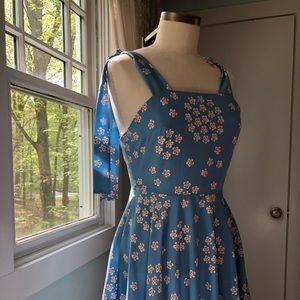 LF Blue Floral Dress